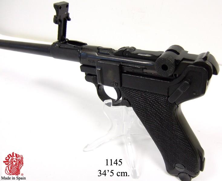 Replika Denix P.08 Luger pro dělostřelce